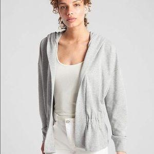 Gap Open Peplum Sweatshirt Heather Grey Size XL
